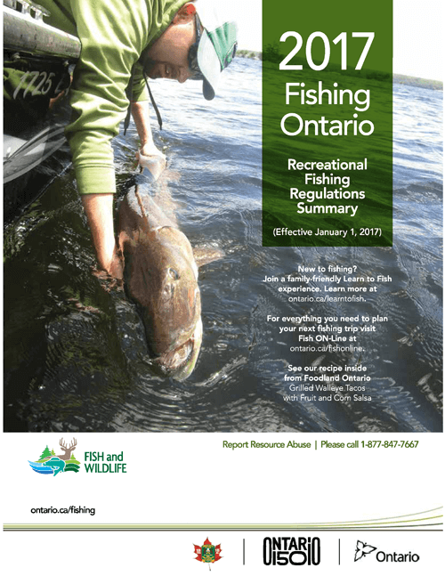 Fishing for Ontario non resident fishing license