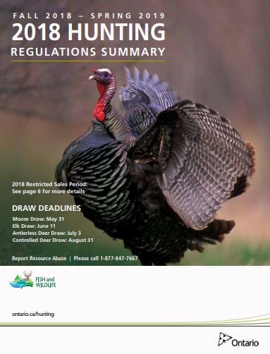 2018 ontario hunting regulations