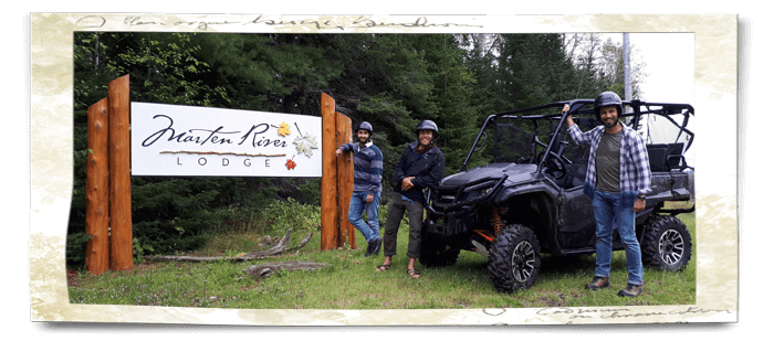ATV adventure guests with guide